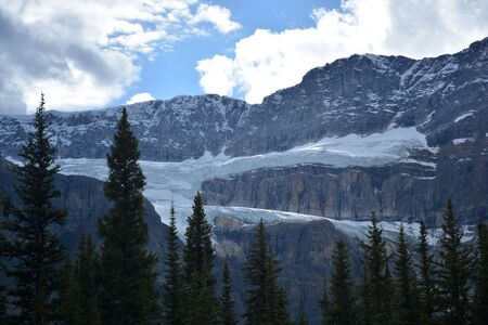 Ice glacier formation in the Rocky Mountain