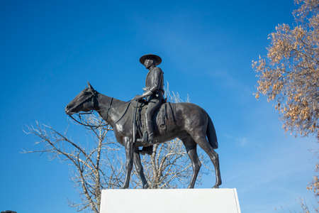 Monument - Statue of Historic Figure on Horse in Park