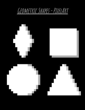 Geometric Shapes White