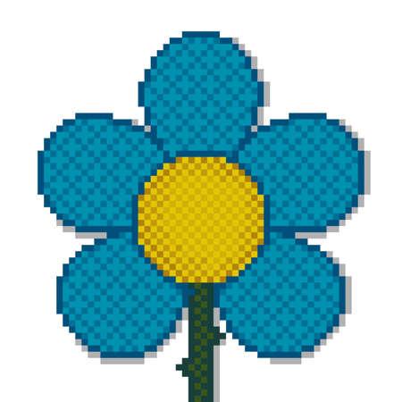 Flower in Pixel Art 写真素材