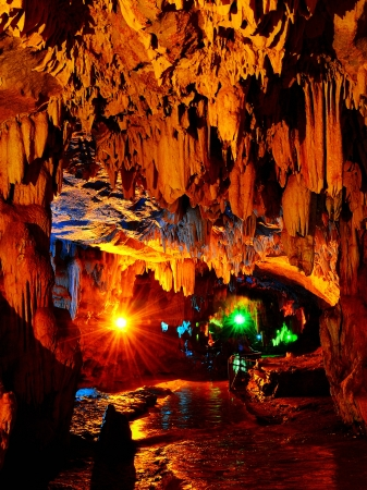 Colorful Karst Cave photo