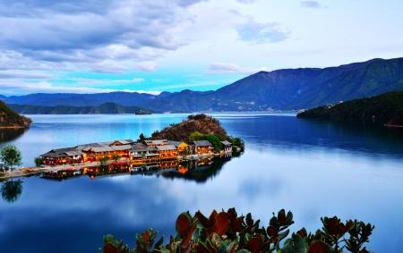 The Lige Peninsula of Lugu Lake photo