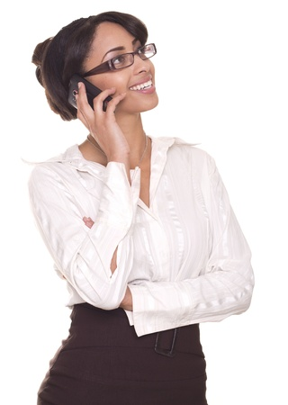 Beautiful business woman smiling with phone Stock fotó - 40733419