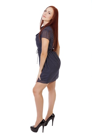 Full length portrait of a confident young woman in a summer dress Stock fotó - 40661216