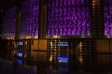 LAS VEGAS - AUGUST 06, 2013 - Aria on August 06, 2013  in Las Vegas  Zarkana began at Aria on October 25, 2012  Stock Photo - 21840407