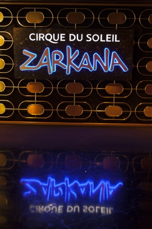 LAS VEGAS - AUGUST 06, 2013 - Aria on August 06, 2013  in Las Vegas  Zarkana replaced the Cirque du Soleil resident production Viva Elvis, which closed in August 2012 at the Aria Resort  Stock Photo - 21840409