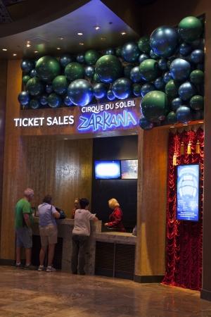LAS VEGAS - AUGUST 06, 2013 - Zarkana Ticket Booth on August 06, 2013  in Las Vegas  Croatian designer Alan Hranitelj created the costumes for Zarkana  Stock Photo - 21840412