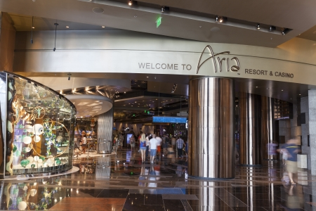 LAS VEGAS - AUGUST 06, 2013 - Aria on August 06, 2013  in Las Vegas  Aria is the largest hotel in the world to have received LEED Gold certification  Stock Photo - 21840415