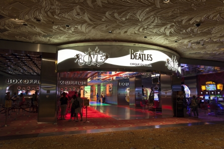 LAS VEGAS - AUGUST 11, 2013 - Beatles at The Mirage on August 11, 2013  in Las Vegas  The Beatles show Love is written and directed by Dominic Champagne  Stock Photo - 21840429