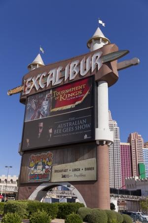 renovated: LAS VEGAS - APRIL 19, 2013 - Excalibur signl on April 19, 2013  in Las Vegas  In 2010 Excalibur renovated it Editorial