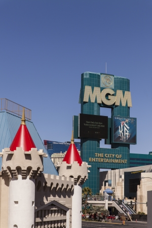 selling off: LAS VEGAS - MARCH 5, 2013 - The MGM sign on March 5, 2013  in Las Vegas  MGM recently announced they are open to selling off propperties at the struggling City Center