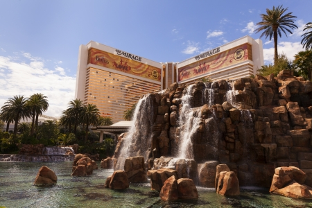 credited: LAS VEGAS - MARCH 30, 2013 - The Mirage volcano and hotel on MARCH 30, 2013  in Las Vegas  The Mirage is credited with turning around a decline in Vegas tourism, ushering the era of mega resorts
