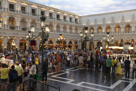 LAS VEGAS - MARCH 30, 2013 - The Venetian hotel on MARCH 30, 2013  in Las Vegas  Live performers entertain guests throughout the Venetian and Palazzo
