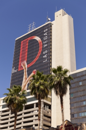 15 18: LAS VEGAS - MAY 18, 2013 - The D Hotel on May 18, 2013  in Las Vegas.  In the fall of 2012 Fitzgeralds receives a $15 million dollar renovation and is renamed The D. Editorial