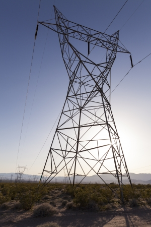 Thousands of towers carry power from Nevada to California  photo
