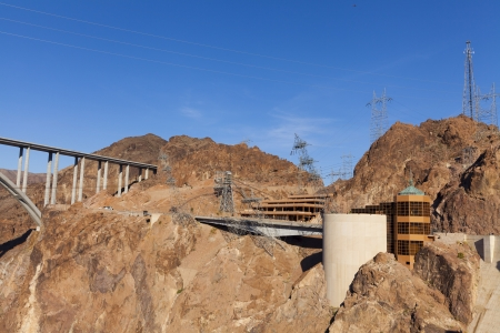 BOULDER CITY - MAY 13, 2013 - Hoover Dam on May 13, 2013  in Boulder City  The present contracts for the sale of Hoover Dam electricity expire in 2017  Stock Photo - 21843769