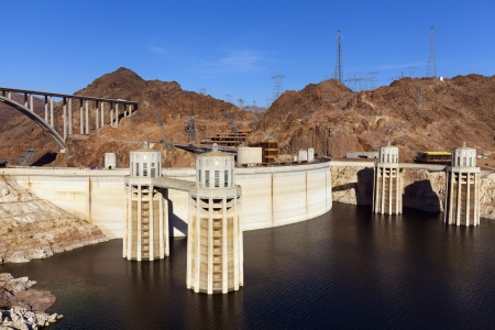 BOULDER CITY - MAY 13, 2013 - Hoover Dam on May 13, 2013  in Boulder City  112 people officially died during construction of the dam but none of them are buried in the concrete of the dam   Stock Photo - 21843773