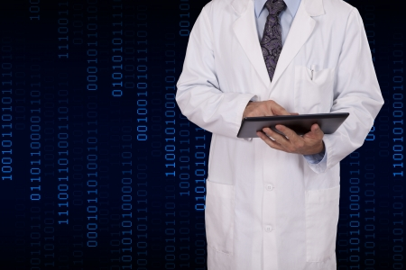 An electrical engineer using a tablet computer Stock Photo - 23283578