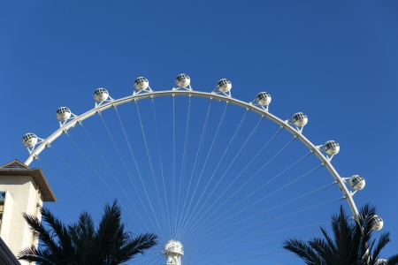supposed: LAS VEGAS - JANUARY 04, 2014 - The High Roller on January 04, 2014  in Las Vegas  The High Roller was supposed to open by January 1st but that date has been pushed back to early February  Editorial