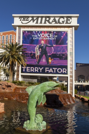 LAS VEGAS - DECEMBER 10, 2013 - The Mirage on December 10, 2013  in Las Vegas  The Terry Fator show was voted best overall show in Las Vegas 2013 in the Las Vegas Review Journal  Editorial