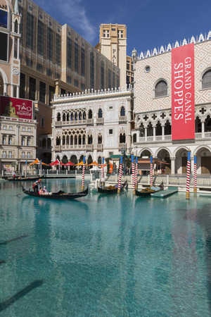 gallons: LAS VEGAS - MAY 12, 2015 - The canal in front of the Venetian hotel holds over 500,000 gallons of water.