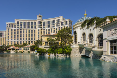 bellagio fountains: LAS VEGAS - MAY 7, 2015 - The Bellagio was recently awarded the AAA five diamond award for the 14th consecutive year in a row.