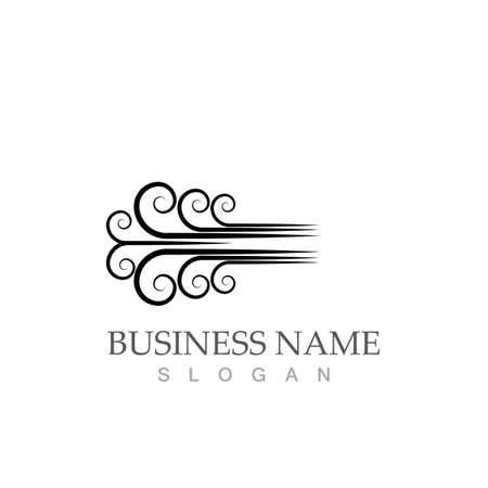 wind logo symbol vector illustration design