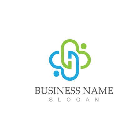 health medical logo design vector template Logos