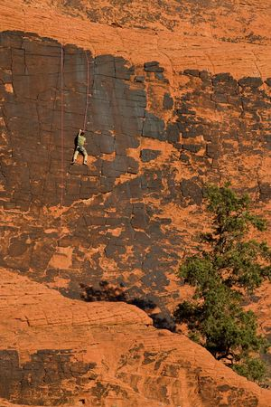 Rock Climbing in Red Rock State Park. Stock Photo - 5108533