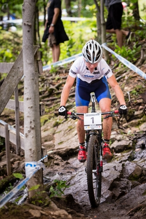 BEAUPRE, QUEBEC - AUGUST 10  Cross Country Women Elite, 3rd place, SLO - ZAKELJ Tanja, UCI World Cup on Aug  10, 2013