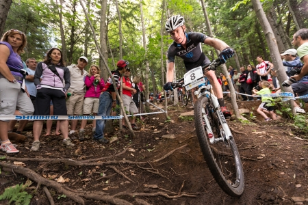 BEAUPRE, QUEBEC - AUGUST 10  Cross Country Men Elite, 5th place, AUS - MCCONNELL Daniel, UCI World Cup on Aug  10, 2013
