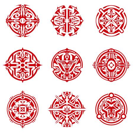 sigil: Collection of abstract circular sigils.