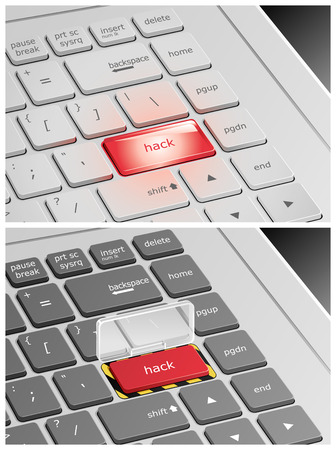 hack: Laptop Keyboard with Hack Buttons