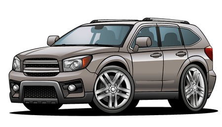 prototipo: SUV 02 Vectores