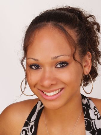 Young Black Teen Girl Smiling Portrait