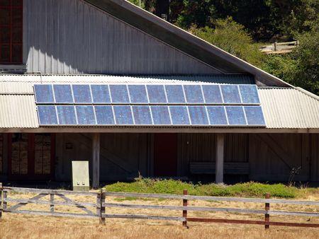 solar panels on national park service building      Banco de Imagens