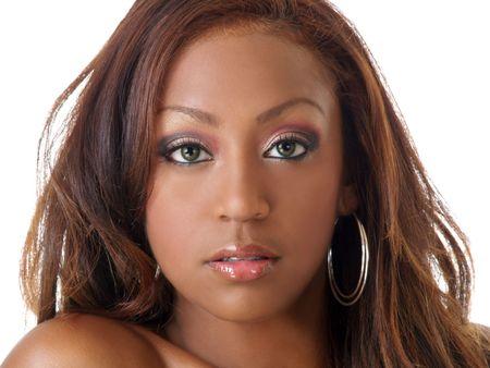 Portrait of confident young pretty black woman