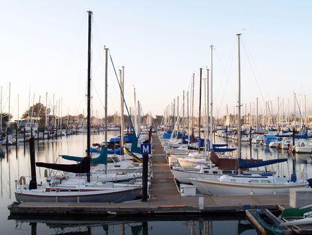 kojen: Dock am Hafen mit Booten in Liegepl�tze