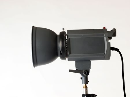 Photography strobe flash unit from the side