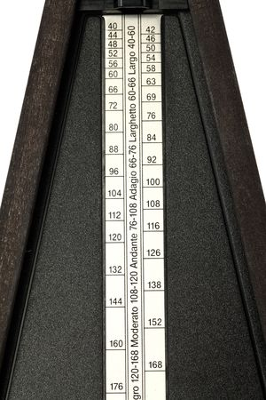 closeup shot of mechanical metronome tempo markings plate Stock Photo - 6250527