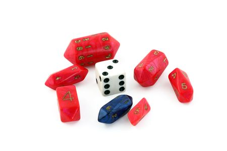 Unusual shapped die for role playing games