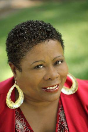 Middle Aged black woman outdoor portrait