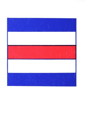 graphic of international nautical signal flag charlie