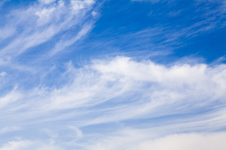 Mare Tail Cirrus Clouds in Blue Sky Reklamní fotografie - 30493776