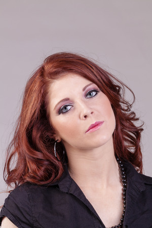 red head: Concerned Look Portrait Caucasian Red Head