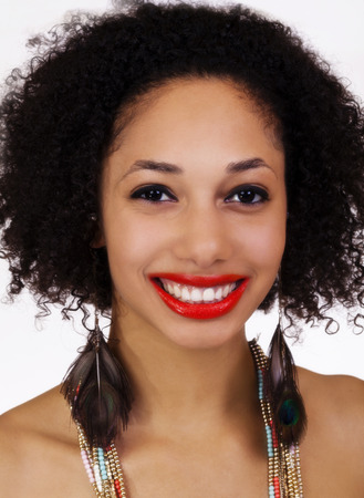 Attractive Light Skinned Black Woman Smiling Portrait