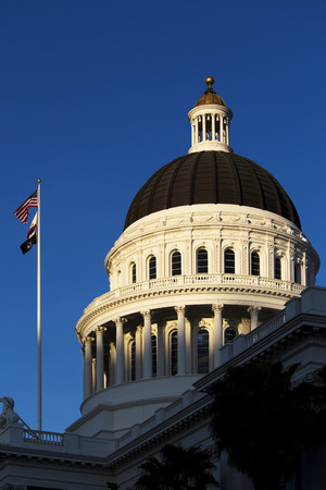 california state: California State Capitol Building Dome Against Blue Sky