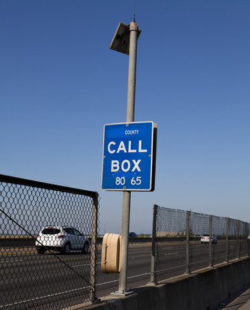 emergency call: Freeway Emergency Call Box With Solar Panel