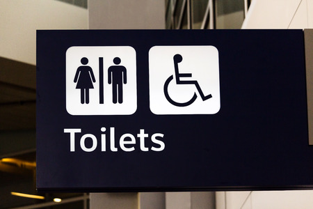 fort worth: Toilet Sign At International Airport Dallas Fort Worth