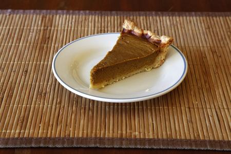 pumpkin pie: Slice Of Homemade Pumpkin Pie On Plate Stock Photo